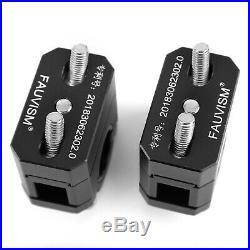 22-28mm Billet Aluminum Handlebar Risers Kit Black Universal For Honda Ducati T3
