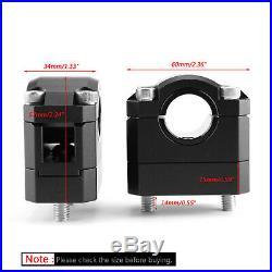 22-28mm Billet Aluminum Lenker Risers Kit Schwarz Universal Für Honda Ducati T4