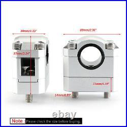 22-28mm Billet Aluminum Lenker Risers Kit Silber Universal Für Honda Ducati B7