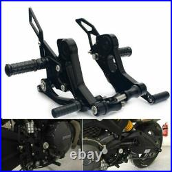 Adjustable Rearsets for Ducati Monster 696 2008-2014 13 12 CNC Billet Footpegs