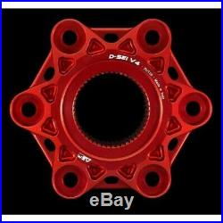 Aem D-sei Ducati 6 Red Hole Aluminium Billet Lightweight Hub Flange Bmhubrdlrg