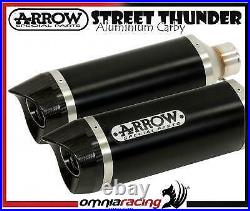 Arrow Dark Line Alu Carby E9 approved Exhausts Ducati Monster 1100 i. E 2009 09/