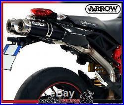 Arrow Dark Line Alu E9 approved Exhausts Ducati Hypermotard 796 i. E 2009 09/