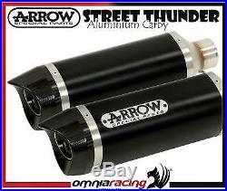 Arrow Dark Line Aluminium Carby E9 Short Exhausts Ducati Hypermotard 1100 i. E 10