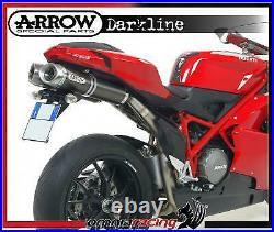 Arrow Dark Line Aluminium Racing Exhausts for Ducati 1098R 2008 08/