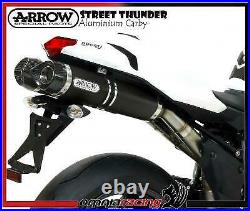 Arrow noir Line Aluminium Carby E9 homologué échappements Ducati 1198S 2009 09