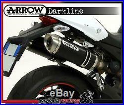 Arrow noir Line Aluminium E9 approuvé échappements Ducati Monster 696 i. E 08