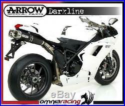 Arrow noir Line Aluminium E9 approuvé échappements pour Ducati 1098 / 1098S 2009