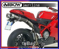 Arrow noir Line Aluminium Racing échappements pour Ducati 1098R 2008 08