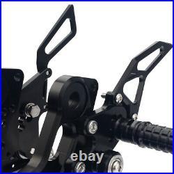 Billet CNC Adjustable Rearsets Foot Pegs Rests For Ducati Monster 696 2010-2014
