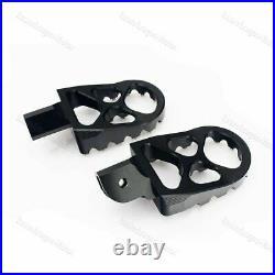 Black Billet CNC Wide Front Foot Pegs Footpegs Footrest for Ducati Scrambler AZ
