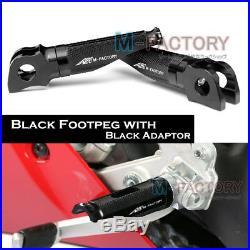 Black Billet Front Rider Foot Pegs For Ducati Monster 696/796 08 09 10 11 12 13