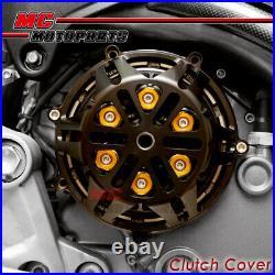 Black CNC Billet Open Clutch Cover Ducati Streetfighter ST2 ST3 ST4S CC21