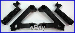 Black Ducati 749 999 Rearsets Rearset Foot Pegs Footpeg 100% CNC Billet Aluminum