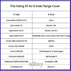 CNC Billet Aluminum Rear Sprocket Drive Flange Cover For Ducati 1098 R 2007-2011
