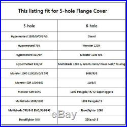CNC Billet Aluminum Rear Sprocket Drive Flange Cover For Ducati 748 848 916 996