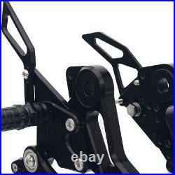 CNC Billet Rearsets Footpegs Footrest For Ducati Monster 696 796 1100S 2010-2014