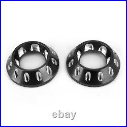 CNC Exhaust Bottom End Caps Black Fit for Ducati Scrambler 1100 Sport Special A5