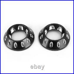 CNC Exhaust Bottom End Caps Black Fit for Ducati Scrambler 1100 Sport Special SG