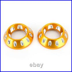 CNC Exhaust Bottom End Caps Gold Fit for Ducati Scrambler 1100 Sport Special H
