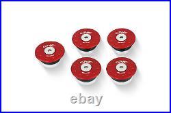 CNC Racing Ducati 748 916 996 998 Billet Aluminum Frame Plug Cap Cover Red 5 p