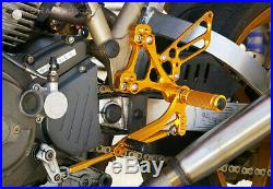DUCATI SS900 / SS1000 / MH900e TYPE 2 SATO RACING REARSETS GOLD