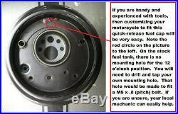 Ducati 916 998 Monster S4R SS Fuel Quarter Turn Gas Petrol Cap Billet Aluminum