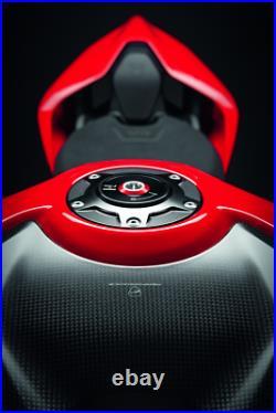 Ducati Billet Aluminum Tank Cap for Panigale, Streetfighter V4 (Black) 97780051BA