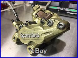 Ducati Brembo Brake Calipers And Steel Braided Line