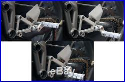 Ducati CNC Billet Aluminum Adjustable Footpeg Footrest Rearset Kit 848 1098 1198