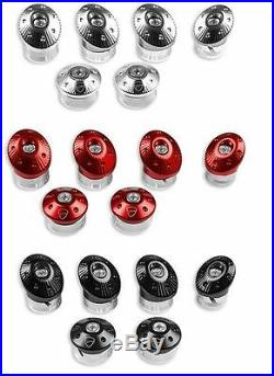Ducati Monster 821 1200 Rahmen Schrauben Aluminium Silber billet frame plugs