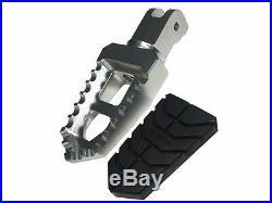 Ducati Multistrada 1200 CNC Billet Adjustable Wide Pegs Pedal Footpegs Footrests