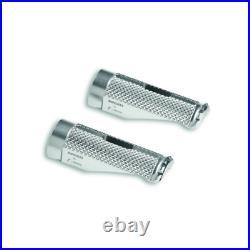 Ducati Multistrada 950 / 1200 / 1260 Billet Aluminium Footpegs Silver