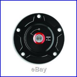 Ducati Panigale Black Billet Aluminum Tank Cap 97780051AA By Rizoma by Ducati