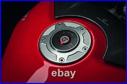 Ducati Panigale V2 Billet Aluminum Tank Cap SILVER by Rizoma 97780051BB