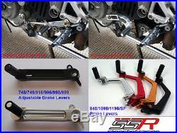 Ducati Passenger Pillion Adjustable CNC Billet Footpeg Kit 848 Evo Streetfighter
