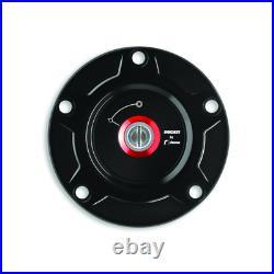 Ducati STREETFIGHTER V4 Black Billet Aluminum Tank Cap 97780051AA Rizoma NEW O. E