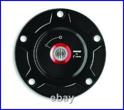 Ducati V2 V4 Billet Aluminium Tank Fuel Cap Black 97780051ba