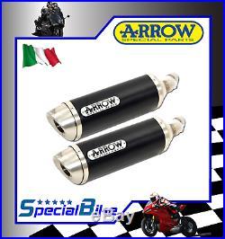 Exhaust Arrow Street Thunder Ducati Monster 696 2008 Dark Line Inox Cap Kat