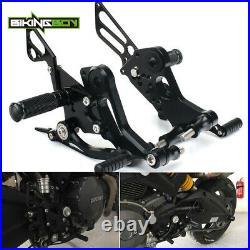 For Ducati Monster 696 2008-2014 13 12 11 CNC Billet Rearsets Footpegs Footrests