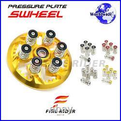 For Ducati Multistrada 620 Dark CNC Billet Clutch Springs Swheel Pressure Plate