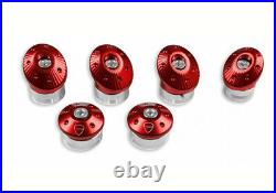 Genuine Ducati Monster Billet Aluminum Frame Plugs Set Red 97380121A