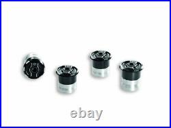 Genuine Ducati Multistrada Billet Aluminum Frame Plugs Black 97380321B