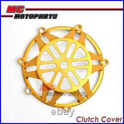 Gold CNC Billet Open Clutch Cover Ducati Monster 750 900 ie Dry Clutch CC21