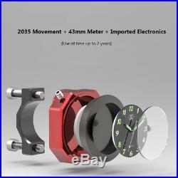Motorcycle Billet Noctilucent Handlebar Clock Bars Mount For Ducati 7/8-1 1/8