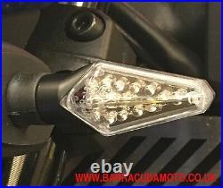 Pair of LED Indicators Barracuda Silur Billet Aluminium Ducati Streetfighter