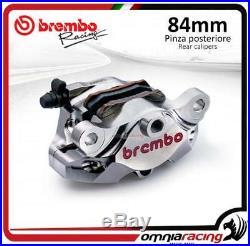 Racing P4 34 84mm nickel rear brake caliper with pads Brembo for Aprila Ducati