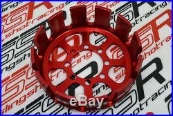 Rotes Kupplungsgehäuse Ducati Monster Multistrada Hypermotard Billet Aluminum CH
