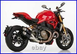 SHARK Track Auspuff schwarz EG-BE passt für Ducati Monster 821, Monster 1200