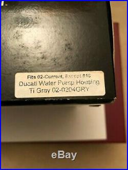 SPEEDYMOTO BILLET WATER PUMP HOUSING DUCATI 848 Ti Gray